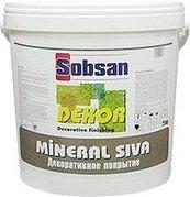 Декоративное покрытие на основе акрилового кополимера Sobsan Mineral siva