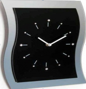 Divar saatı Orion Uhren Wanduhr 13K/WV32 schwarz Strass