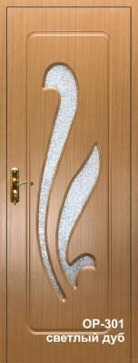 Двери межкомнатные МДФ OP-301 светлый дуб