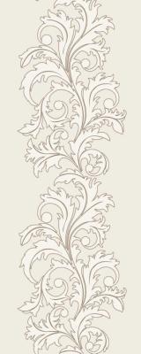 Keramik plitə Ege Seramik Bloom Ivory , Bloom Ivory Kimono Medalion #3