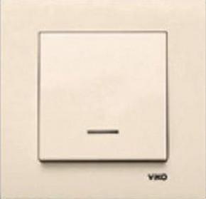 Выключатель Viko Karre 1-й внутренний с подсветкой