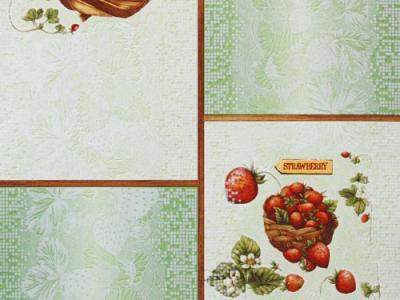 Виниловые обои на бумажной основе Славянские обои Expromt B43,4 Десерт C888-04
