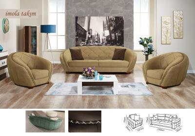 Диван и кресло Luxen wood